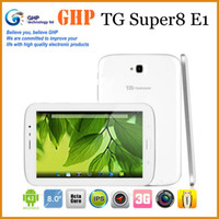 Wholesale 8 inch TG Teamgee Super E1 Octa Core Tablet PC Android GSM WCDMA USB GB RAM GB ROM