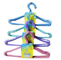 Wholesale Kids Clothes Metal Hanger Children Coat Hangers Plastic Iron Non Slip Firm Durable Strong