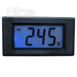 Wholesale Digital Voltmeter AC V Blue LCD Alternating Voltage Digital Panel Meter Mini Power M