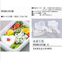 Wholesale 2pcs Rice balls sushi mould seaweed bamboo curtain porphyrilic set combination tools handle flower shaped