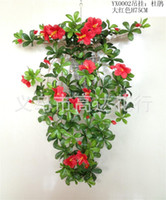 Wholesale artificial rhododendron leaf vine silk flower vines artificial flowers leaves party decorations decorative flowers wreaths home decor