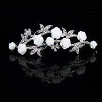 Wholesale Korean exquisite diamond bridal tiara crown crown resin roses