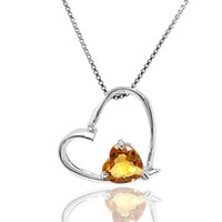 Pendant Necklaces South American Women's Flammable volcano genuine natural citrine gemstone 925 sterling silver pendant jewelry female colored gemstone jewelry
