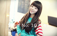 Body Wave Brazilian Hair Wig,Half Wig Promotion Wholesale New Brown Brack Curly Wave Lady's Cheap Sexy Synthetic Hair Virgin Brazilian Full Lace Wigs For Cosplay