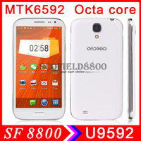 Lenovo 5.0 Android Ulefone U9592 HDC S4 5.0 Inch I9500 MTK6592 1.7G MHz TRUE Octa core Cell Phone android smart phone 1GB RAM 8GB ROM 2.0+8.0MP wcdma 3G GPS