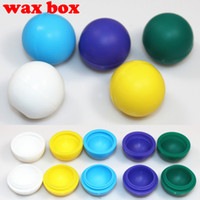 Wholesale Portable Silicone storage box colorful store wax oil e juice for e cigarette dry herb vaporizer pen herbal vaporizer vapor cigarettes kits