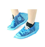 Wholesale Sales Promotion Waterproof Shoe Cover Disposable Overshoes Plastic Overshoes RY0105