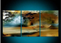 One Panel Oil Painting Abstract Discount 3 Piece Canvas Thunderstorm Modern Abstract Large Cheap Wall Art Of Painting For Sale Oil Prints For Home Decoration