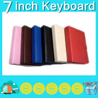 Wholesale 7 Inch USB keyboard leather case VIA A10 A13 Q88 N77VC882 epad tablet pc LO01