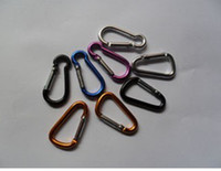 Cheap Outdoor High Quality D-type 5mm Quickdraw Locking Aluminum Carabiner Carabiner 100pcs lot free shipping