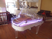 Wholesale 2015 Fashion New Arrival Best Quality Full Transparent Crystal Grand Pianos Handcrafted transparent Crystal Grand Pianos