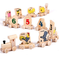 Wholesale Wooden Train Toys Building Blocks Education Toys Gifts for Kids Children Set
