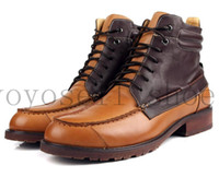 Lace-Up Men Winter British style fashion Black   Brown tan mens cowhide genuine leather casual shoes mens ankle boots