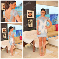 2014 Brazil Style Crew Evening Dresses Customer Made Short M...