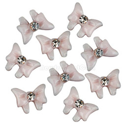 Wholesale 20x Acrylic Butterfly Rhinestones For D Nail Decorations Special Art Tips NI5L