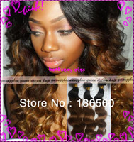 Cheap Grade 5A hair promotion !! two tone ombre hair extensions wavy weaving weft 100% brazilian virgin human hair hot sale