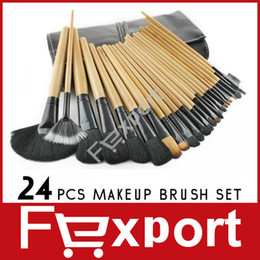 Wholesale 24 Professional Makeup Make up Brush Cosmetic Set Kit with Black Bag