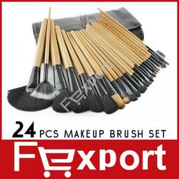 Wholesale 24 Professional Makeup Make up Brush Cosmetic Set Kit with Black Bag