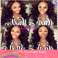 Wholesale Brazillian Body Wave Virgin Hair For African Americans Glueless full lace Wigs Cheap Natural Hairline Baby Hair