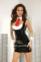 Men Boxers & Boy Shorts Christmas Free Shipping Hot Sexy Black And White Leather Dress With Tie LB1210