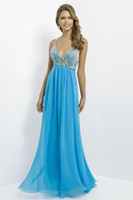 Wholesale New Arrival Made to Measure Aqua Criss Cross Straps Prom Dress China