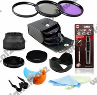Wholesale 3 Colour Pop Up Flash Hot Shoe Diffuser MM Filter CPL UV Set Lens Hood Cleaning Kit for Canon Rebel T4i T3i T3 T2i T1i XT