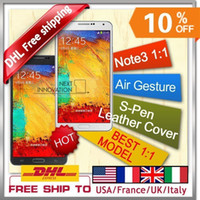 Wholesale 1 Note3 Android4 N9000 Mobile Phone MTK6589 Quad Core GHz G Rom note mtk6572 inch Air Gesture With Original Box