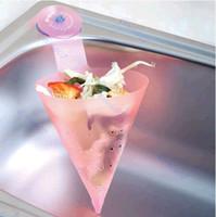 Wholesale Hot Sell Salad Garbage Kitchen Garden Helper Colanders Strainers Pink