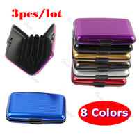 Wholesale Pocket Waterproof Business ID Credit Card Wallet Holder Aluminum Metal Case Box