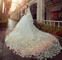 rhinestone applique - 2014 Bling Bling Cathedral Train Sweetheart Appliques Rhinestones A Line Wedding Dresses Gowns Sequins Bridal Bride Dresses Gowns