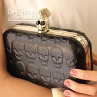 Wholesale NEW SEXY PUNK skull clutch bag women s shoulder evening party bag