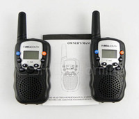 Wholesale 2pcs New walkie talkie W CH Walkie Talkie UHF T for Kids handheld interphone Ham Transceiver A0762A Fshow
