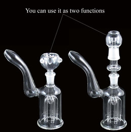 Wholesale two function glass water perc percolator clear arm smoking color pipe