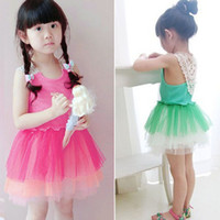 Children Clothing Summer Girl Suspenders Lace Yarn Tutu Dres...