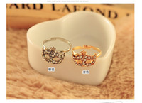 Wholesale hot selling fashion jewelry masks crystal ring women ring