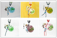Bohemian colored glass bottles - 2014New style colored glaze sexy print essential oil bottle necklace pendant with bead aromatherapy bottle necklace accessory
