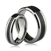 tungsten carbide ring - S9Q MM Tungsten Carbide Carbon Fiber Unisex Wedding Band Ring Mens Ladies Gift AAAALI