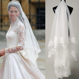 Wholesale kim kardashian Wedding Veil Bridal Veil Lace With Comb Bridal Accessories Sell