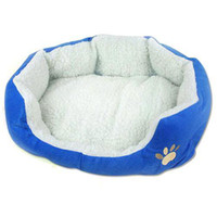 Wholesale S9Q New Pretty Soft Dog Cat Bed House Cozy Warm Fleece Pet Nest Removable Washable AAABAN