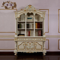 Wholesale luxury french furniture high end furniture antique italian furniture High End Wooden Executive bookcase home office furniture