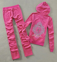 Wholesale Ladies Velour Tracksuits Jogging Sports Set Top Quality Running Clothes Sweatsuits Sportswear New Design