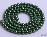 Wholesale Green Circle Faux Pearls Glass Pearl Beads Spacer Bead For Lady Jewelry Making BDB18