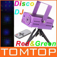 Wholesale Mini Red amp Green LED Stage Light Moving DJ Party Stage Laser Light Projector with Remote Control Dsico Light