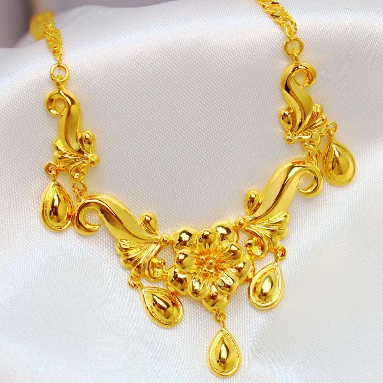 Phoenix Bridal Jewelry Sets Three Piece Gold Plated 24k