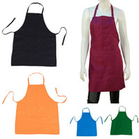 Wholesale Home Apron Cotton Women Lady Girl Furniture Supplies Solid Home Health Clean Kitchen Color Choose DTG