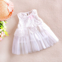 Wholesale Details about NEW Baby Girls Kids Princess Skirt Party Lace Bow Christmas Formal Dress Clothes