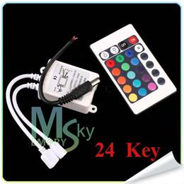 Luz de tira de LED RGB controlador 3528 5050 24/44 teclas IR mando a distancia para cadena RGB SMD luces 12V 000078