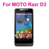 Wholesale Anti glare clear Screen Protector For MOTO Razr D3 With Retail Package