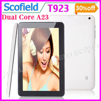 Wholesale T900 T923 A23 Dual Core GHz Inch Android Tablet PC Dual Camera MB RAM GB ROM Android