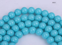 Holidays, Seasonal loose faux pearls - 3mm Round Faux Glass Pearl Spacer Faux Pearl Loose Beads For Jewelry Bracelet Necklace Making Skyblue BDD21